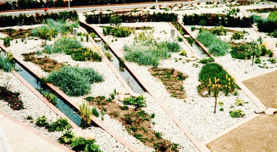 Mid-century gardens & landscapes campaign Hounslow Civic Centre by Preben Jakobsen
