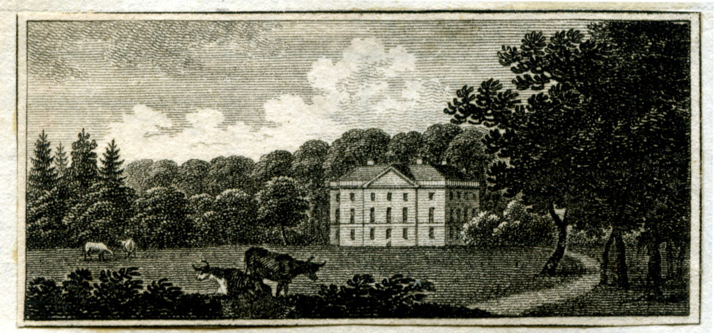 Proposal for Honing Hall after Humphry Repton, picture from Peacock's Polite Repository for April 1794