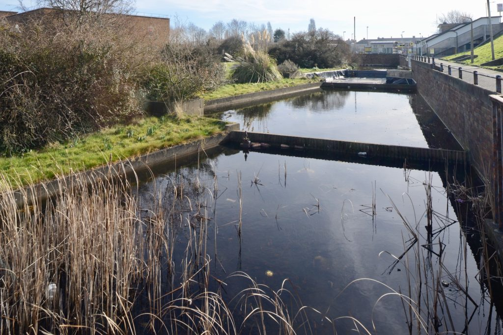Example of an Industrial Heritage landscape: Jellicoe Watercourse for Cadbury's factory, Moreton