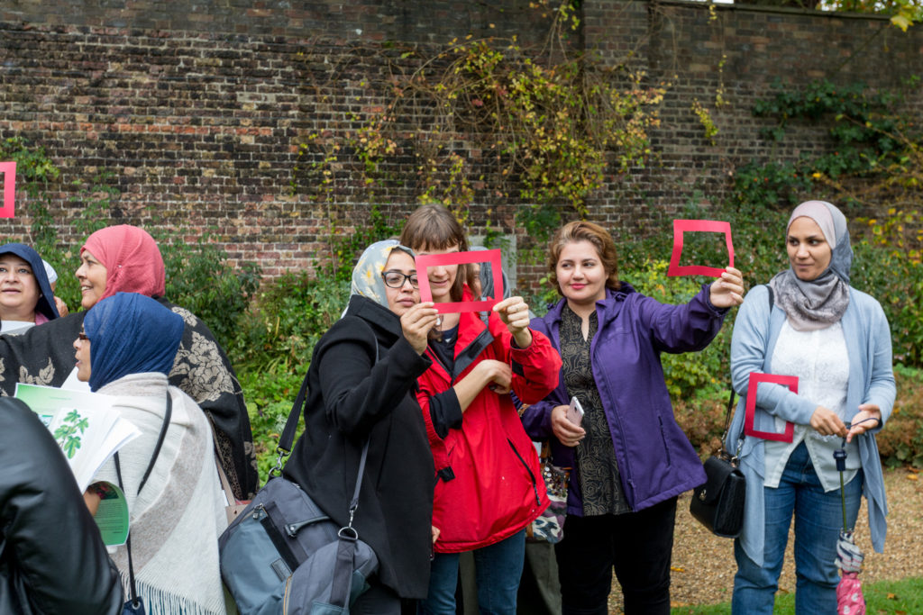 Sharing Repton, multi-cultural group of women at Kenwood House