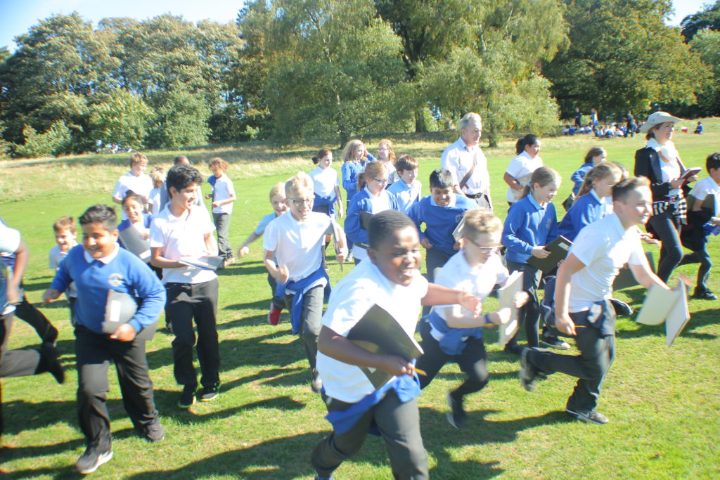 Sharing Repton, children at Warley Woods