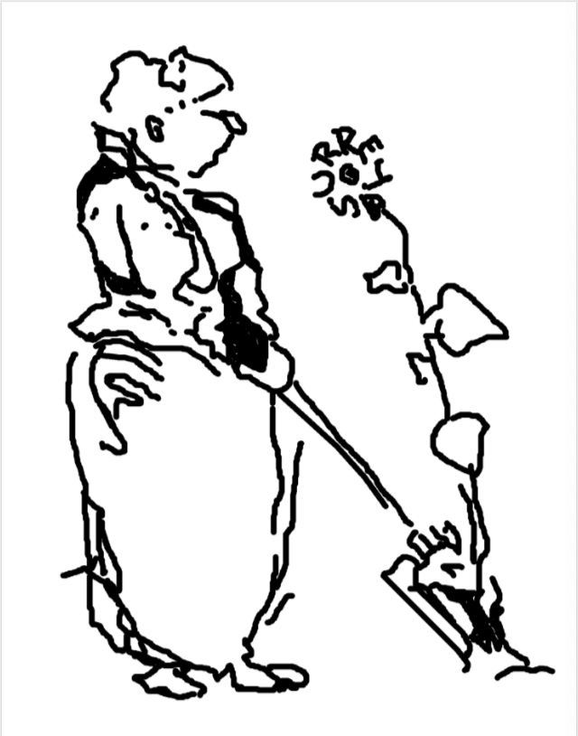 The Surrey Sunflower, a drawing of Jekyll by Lutyens