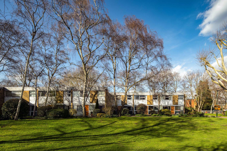 Post-war landscape at Fieldend, Twickenham, Middlesex now registered Grade II