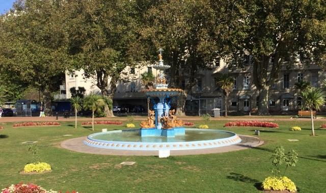 Photo of restored fountain in Unforgettabe Princess Gardens
