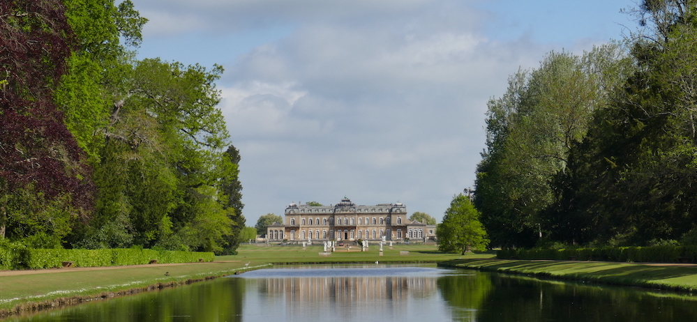 View of Wrest Park across the long water