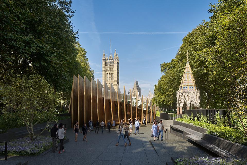 Proposed memorial in Victoria Tower Gardens