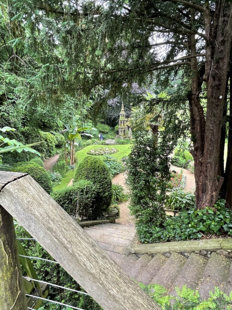 Plantation Garden seen from the stone steps