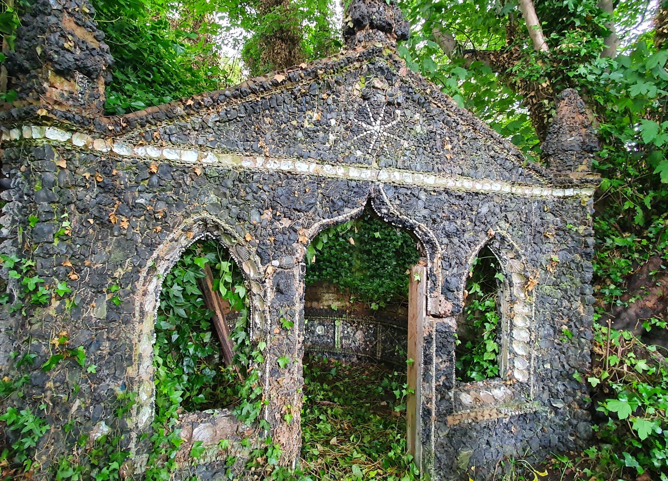 Grotto found at the bottom of a garden in Edgbaston