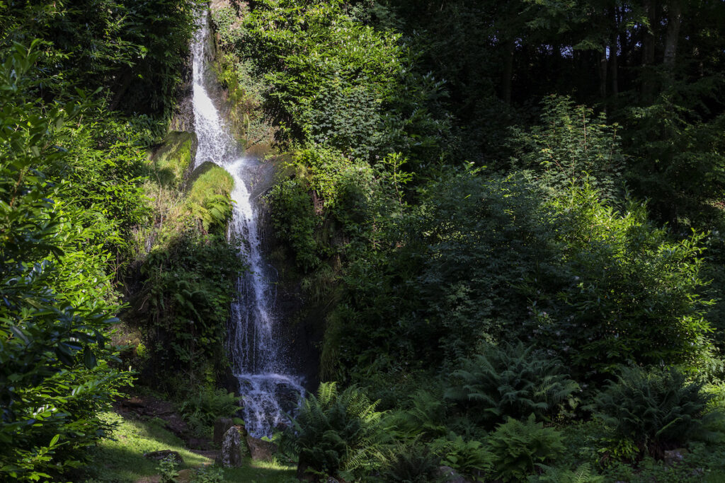 The great cascade in the landscape garden