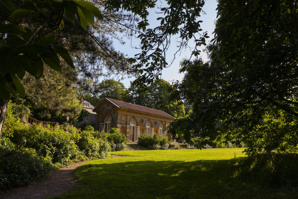 the Orangery and lawn
