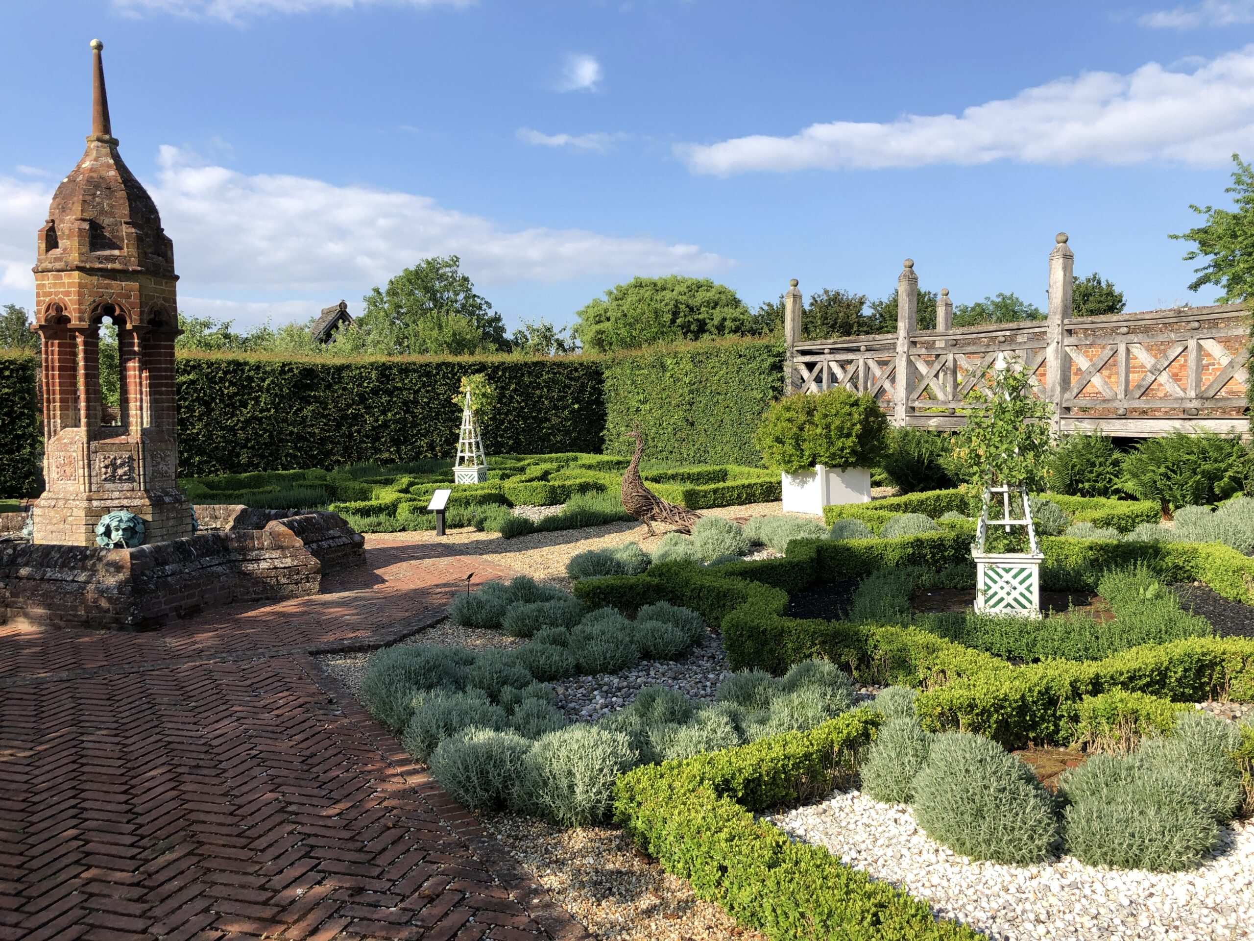 Knot garden at Cressing Temple